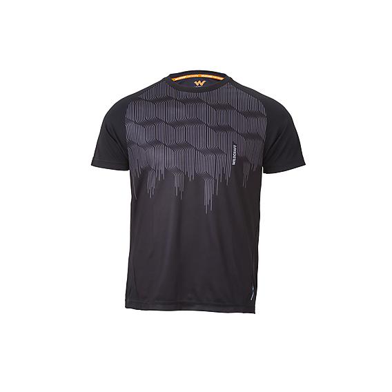 b5e63eb167 Buy Men Hypacool Crew T Shirt - Wave Print - Black Online   T-Shirts ...