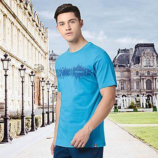 Wildcraft Men Printed T-Shirt - Blue