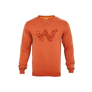 Wildcraft Men Pullover W Print - Rust