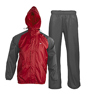 Wildcraft Rainwear- Rain Pro Jacket - Red Grey