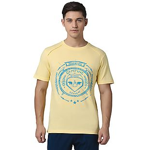 Wildcraft Men Printed T-Shirt - Yellow