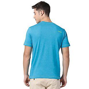 Wildcraft Men Crew T Shirt - Light Blue Melange